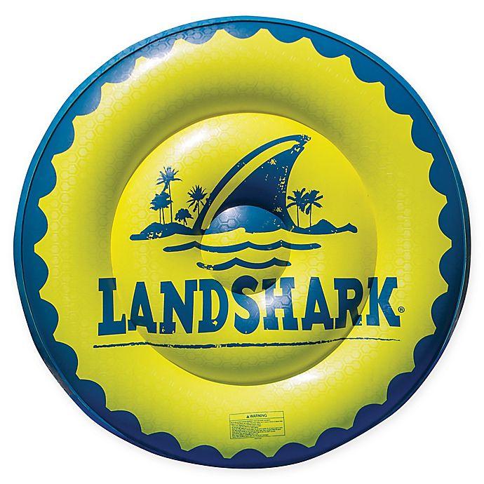 Alternate image 1 for Margaritaville® Land Shark Beer Cap Pool Float in Yellow/Blue