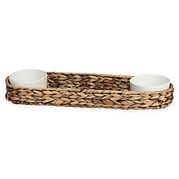 Creativeware Island Breeze Appetizer Double Chip and Dip