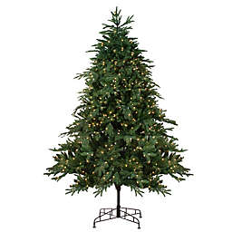 9-Foot Pre-Lit Pine Artificial Christmas Tree in Green