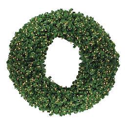 60-Inch Pre-Lit Commercial Wreath