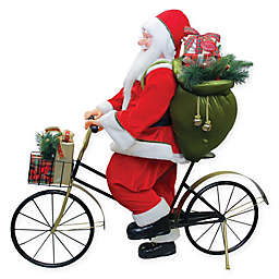 42-Inch Bike-Riding Santa Claus