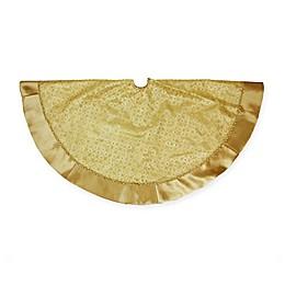 Northlight Glitter Star Christmas Tree Skirt in Gold