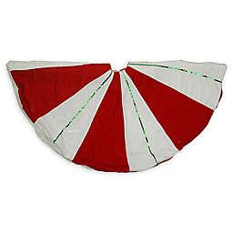 48-Inch Peppermint Twist Christmas Tree Skirt