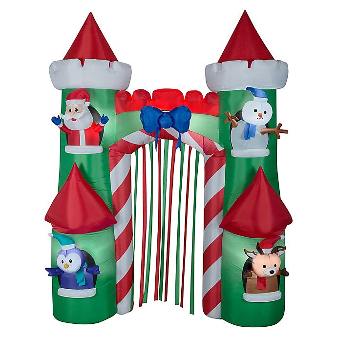 National Tree Company 9 Inch Inflatable Holiday Castle Gate