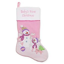 Velveteen Snowman Christmas Stocking