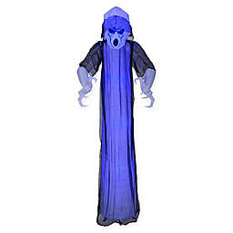 Inflatable Flickering Blue Ghost 8-Foot Outdoor Halloween Decoration