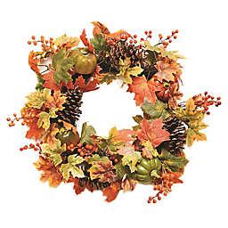 20-Inch Artificial Fall Assortment Wreath