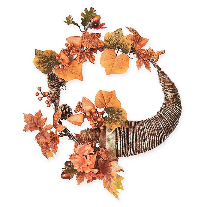 Alternate image 1 for Northlight 20-Inch Cornucopia Wreath