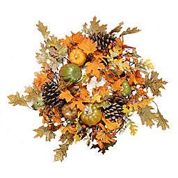 24-Inch Artificial Fall Assortment Wreath
