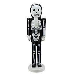 Northlight 14-Inch Skeleton Halloween Nutcracker in Black/White