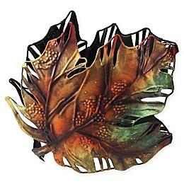 Roman Maple Oak Leaf Metal Multicolor Votive Holder