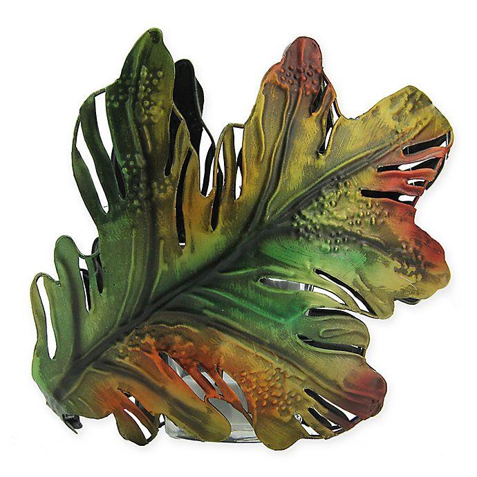 Alternate image 1 for Roman Oak Leaf Metal Multicolor Votive Holder
