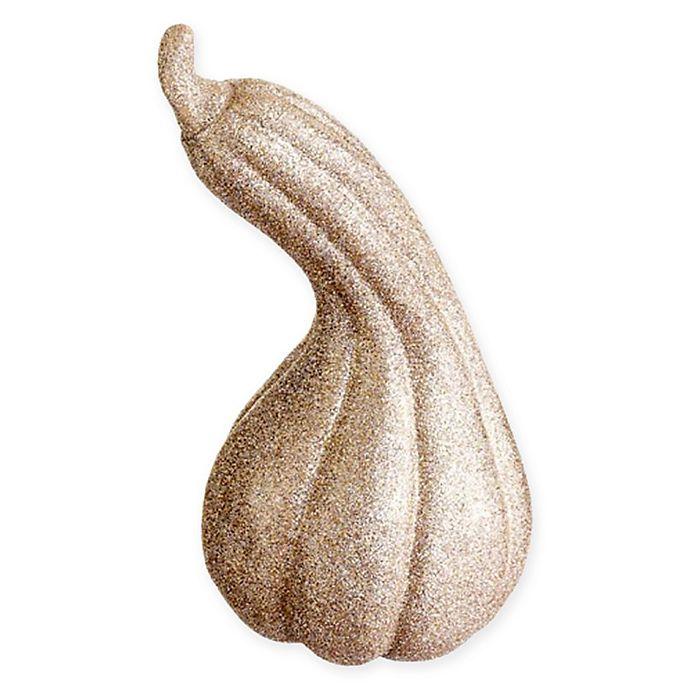 Alternate image 1 for Faux Glitter Gourd in Gold