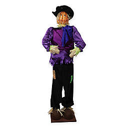 Vickerman 6-Foot Plush Scarecrow Decoration in Purple