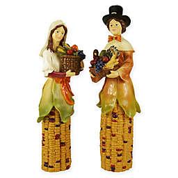 2-Piece Pilgrim Figurine Set in Yellow