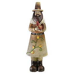 Northlight Decorative Pilgrim Man Figurine in Orange