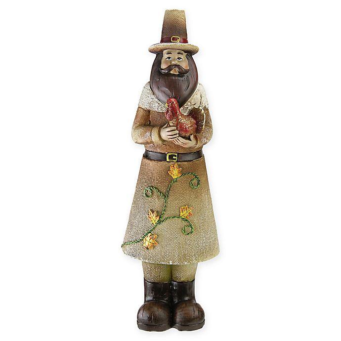Alternate image 1 for Northlight Decorative Pilgrim Man Figurine in Orange