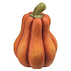 Two-Tone Pumpkin Sculpture in Orange