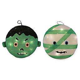Northlight Mummy Frankenstein Halloween Decorations (Set of 2)