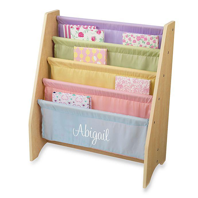 KidKraft® Personalized Girl's Sling Bookcase In Pastel