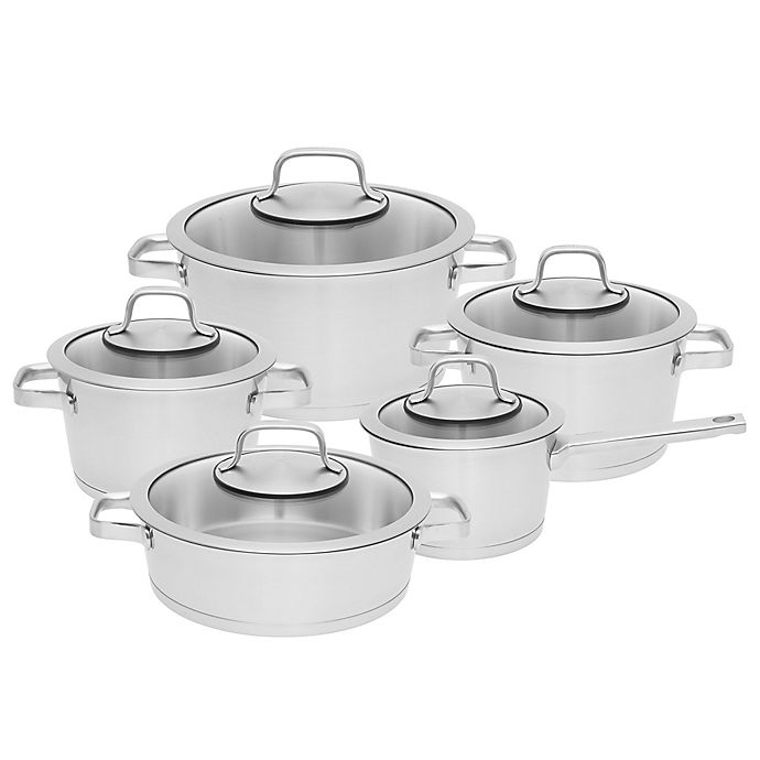 Alternate image 1 for BergHOFF® Manhattan Stainless Steel 10-Piece Cookware Set