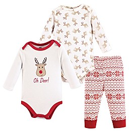 "Hudson Baby® 3-Piece ""Oh Deer!"" Layette Set in Red"