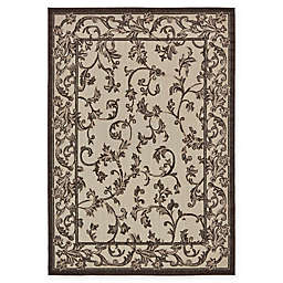 Unique Loom Traditional 7' x 10' Area Rug in Beige/Brown
