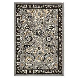 Isfahan Design 6' x 9' Area Rug in Dark Grey