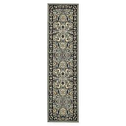Isfahan Design 2' 2 x 8' 2 Runner in Dark Grey