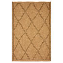 Unique Loom Trellis Shag Indoor/Outdoor Rug in Light Brown