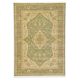 Rosey Heritage 7' x 10' Area Rug in Light Green