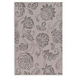 Floral Indoor/Outdoor Area Rug in Grey