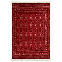 Unique Loom Bokhara 7' x 10' Area Rug in Red