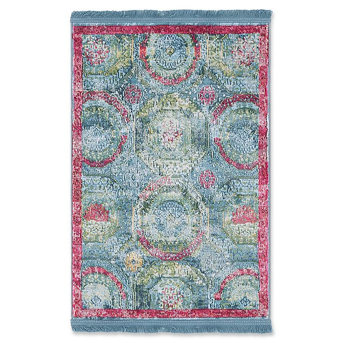 Alternate image 1 for Unique Loom Havana 2'2 x 3' Accent Rug in Turquoise/Pink