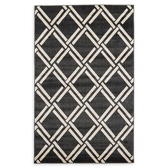Alternate image 1 for Unique Loom Trellis Rug in Black