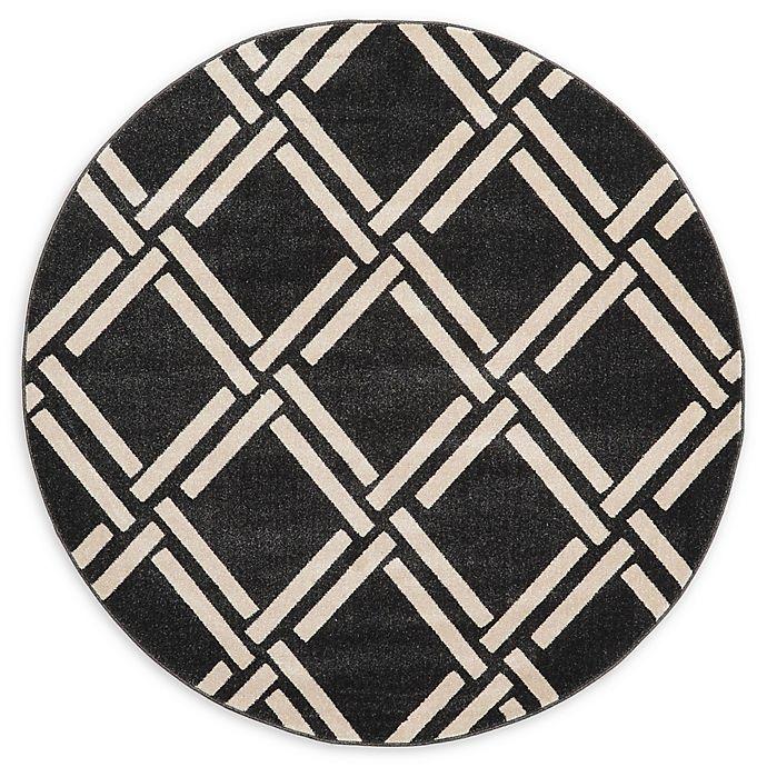 Alternate image 1 for Unique Loom Trellis 6' Round Rug in Black