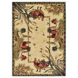 Unique Loom Rooster 7' x 10' Area Rug in Cream