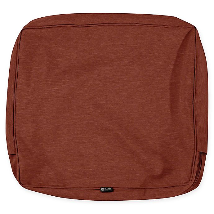 Alternate image 1 for Classic Accessories® Montlake 23-Inch x 22-Inch Outdoor Cushion Slipcover in Heather Red