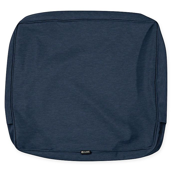 Alternate image 1 for Classic Accessories® Montlake 23-Inch x 22-Inch Outdoor Cushion Slipcover in Heather Blue