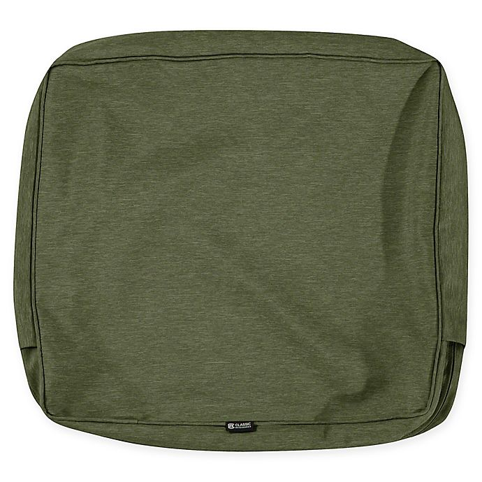 Alternate image 1 for Classic Accessories® Montlake 21-Inch x 22-Inch Outdoor Cushion Slipcover in Fern Green
