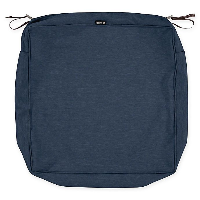 Alternate image 1 for Classic Accessories® Montlake 19-Inch x 19-Inch Outdoor Cushion Slipcover in Heather Blue