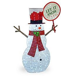 National Tree Company 66-Inch Pre-Lit Snowman Decoration