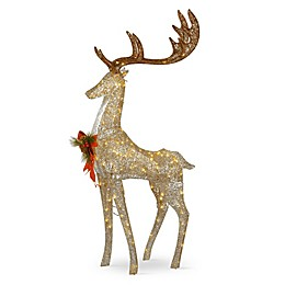 National Tree Company 55-Inch Pre-Lit Standing Buck Decoration