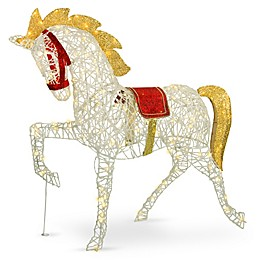 National Tree Company 48-Inch Pre-Lit Carnival Horse