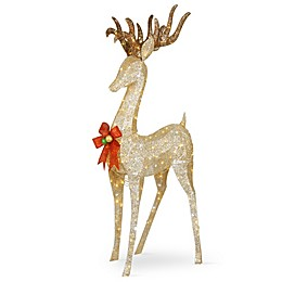 National Tree Company® 74-Inch Standing Buck LED Yard Decor in Champagne