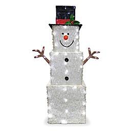 National Tree Company® 42-Inch Square Snowman LED Yard Decor