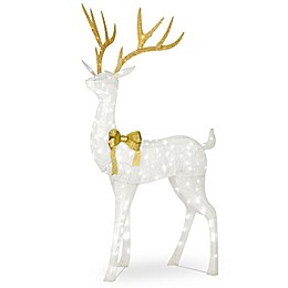 National Tree Company® 75-Inch Standing Buck LED Yard Decor in White