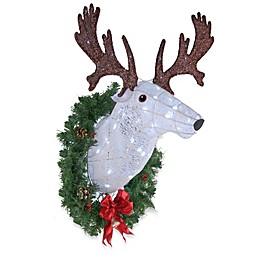 National Tree Company® 29-Inch Wall-Mount Deer Head Holiday Decor