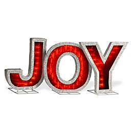 National Tree Company® 18-Inch JOY LED Illuminated Lawn Ornament in Red
