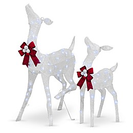 National Tree Company® Pre-Lit Standing Fawn and Doe Yard Decoration